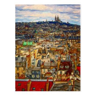 Tejados de París por el mac de Shawna Tarjetas Postales