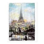 Tejados de París Postal