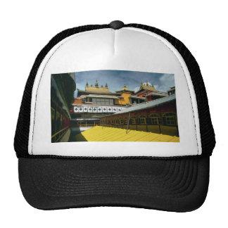 Tejados del templo, Tíbet, China Gorras De Camionero