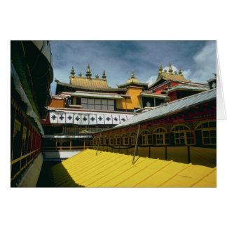 Tejados del templo, Tíbet, China Tarjeta