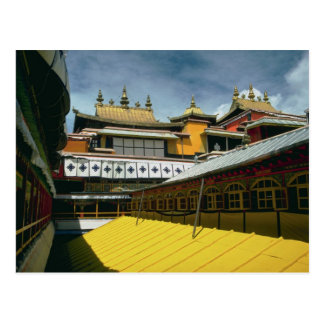 Tejados del templo, Tíbet, China Tarjeta Postal