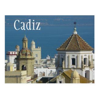Tejados, mar Mediterráneo, Cádiz, España Tarjeta Postal
