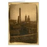 Tejados Notecards de Bolonia Tarjeta Pequeña