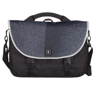Tejano azul oscuro bolsas para portatil