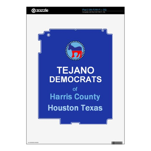 Tejano Decal For iPad 2