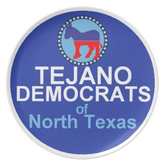 Tejano Democrats Plate
