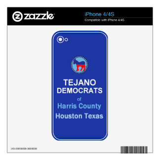 Tejano iPhone 4 Decal