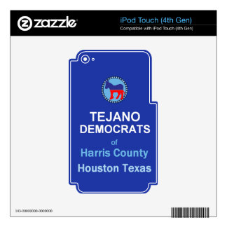 Tejano iPod Touch 4G Decals
