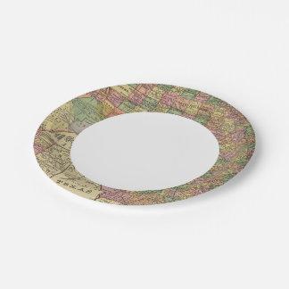 Tejas 13 plato de papel de 7 pulgadas