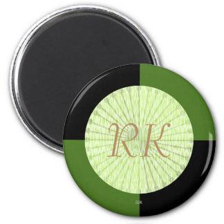 tejas a cuadros del negro del color de la imán redondo 5 cm