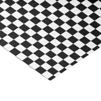 tejas a cuadros del negro del color de la papel de seda