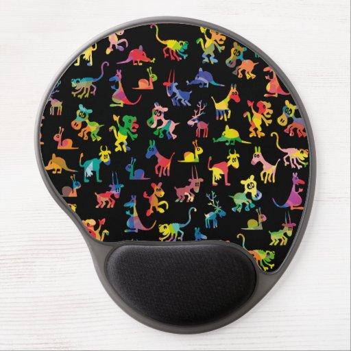Tejas abstractas del modelo de los animales alfombrilla de raton con gel