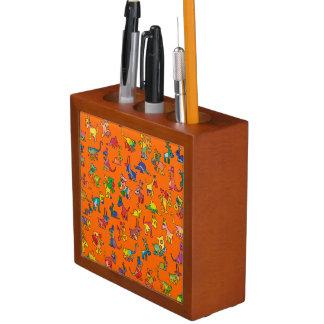 Tejas abstractas del modelo de los animales organizador de escritorio