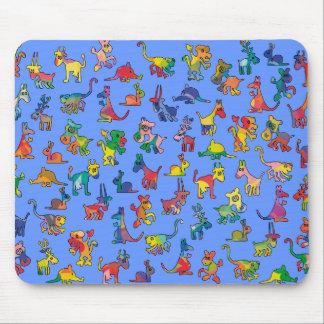 Tejas abstractas del modelo de los animales mousepads