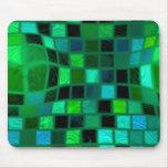 tejas abultadas verdes tapete de raton