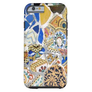 Tejas amarillas de Gaudi - espejo Funda De iPhone 6 Tough