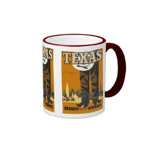 Tejas - arte del poster del viaje del vintage tazas