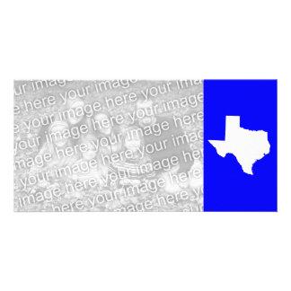 Tejas azul y blanco tarjetas personales