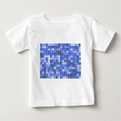 Tejas azules playera de bebé