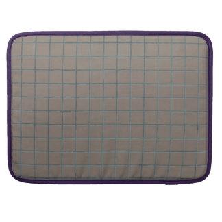 Tejas beige cuadradas fundas para macbook pro
