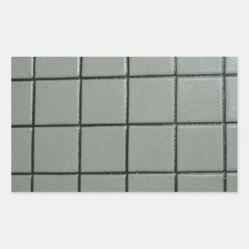 Tejas blancas pegatina rectangular