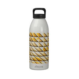 tejas brillantes de oro botella de beber