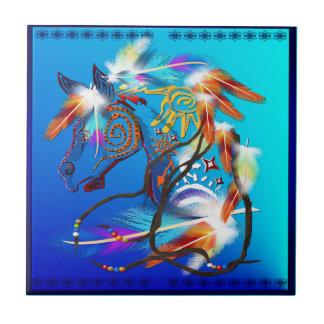 Tejas brillantes del caballo