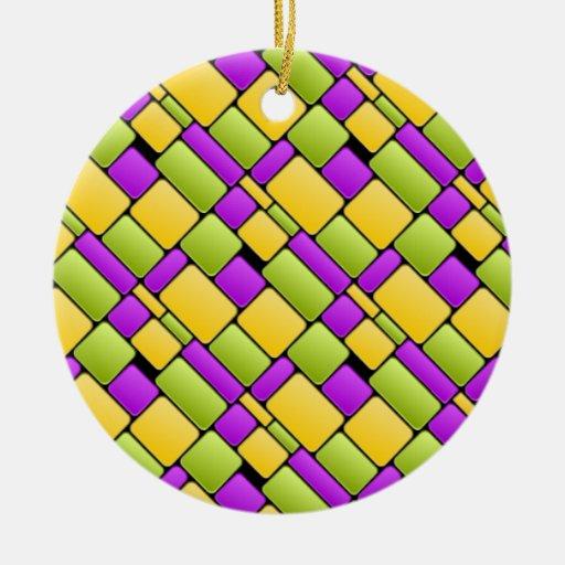 Tejas brillantes ornamento para arbol de navidad