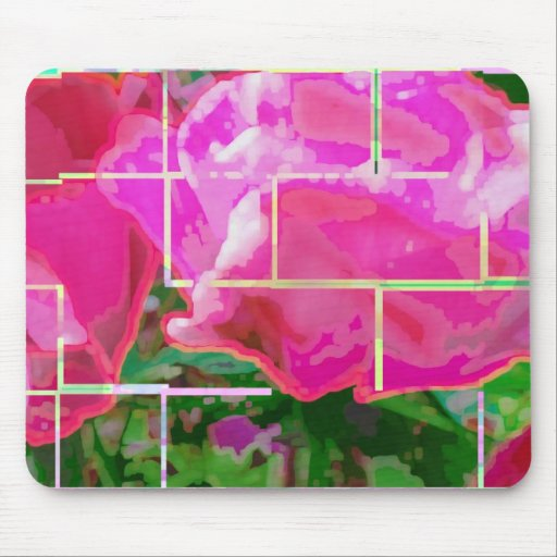Tejas color de rosa tapetes de ratón