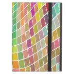 Tejas coloreadas en un modelo ondulado