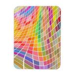 Tejas coloreadas en un modelo ondulado imán de vinilo
