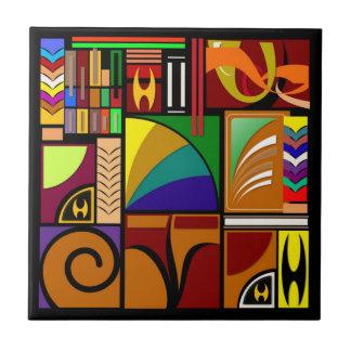 Tejas coloridas del diseñador