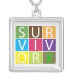 Tejas coloridas del superviviente del trasplante d collares