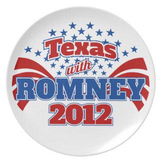 Tejas con Romney 2012 Platos De Comidas