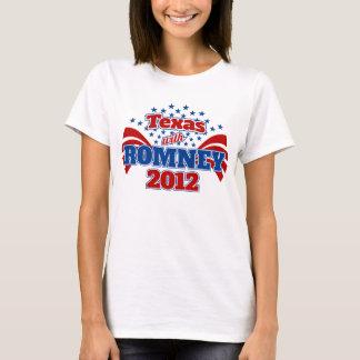 Tejas con Romney 2012 Playera