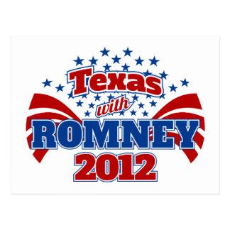 Tejas con Romney 2012 Postal