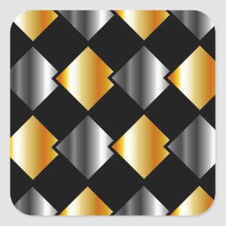 Tejas cuadradas metálicas pegatina cuadrada