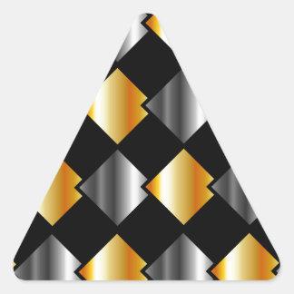 Tejas cuadradas metálicas pegatina triangular