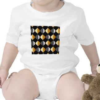 Tejas cuadradas metálicas traje de bebé