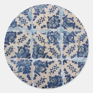 Tejas de Azulejo del portugués Etiqueta Redonda