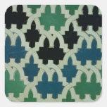 Tejas de Azulejos del trono de los sultanes Calcomanías Cuadradases