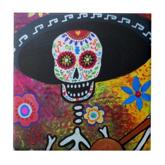 Tejas de Dia de Los Muertos Gitarero por Prisarts