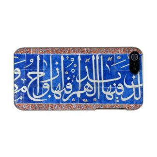 Tejas de Iznik con caligrafía islámica Funda Para iPhone 5 Incipio Feather Shine