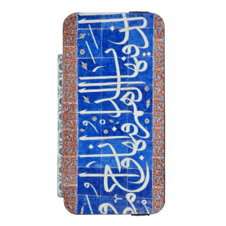 Tejas de Iznik con caligrafía islámica Funda Cartera Para iPhone 5 Watson