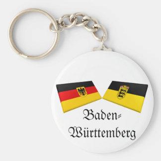 Tejas de la bandera de Baden-wurttemberg, Alemania Llavero Redondo Tipo Pin