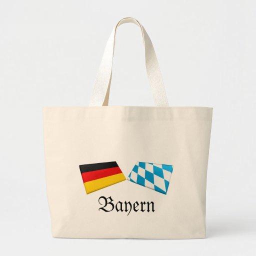Tejas de la bandera de Baviera, Alemania Bolsa Tela Grande