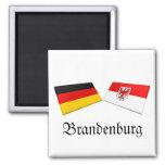 Tejas de la bandera de Brandeburgo, Alemania Iman