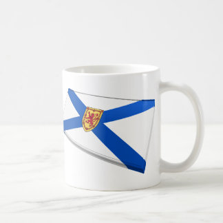 Tejas de la bandera de Canadá y de Nueva Escocia Taza De Café