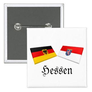 Tejas de la bandera de Hesse, Alemania Pin