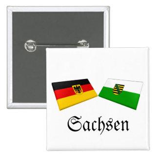 Tejas de la bandera de Sajonia, Alemania Pin